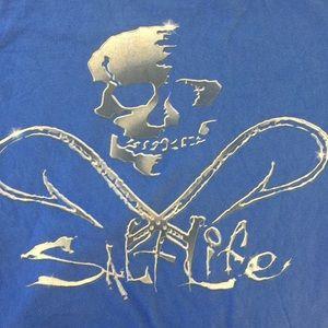 Salt Life Pirate Skull Logo T shirt Men's Small